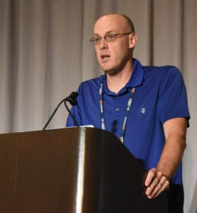 Internet2's Karl Newell speaks at the 2019 Technology Exchange
