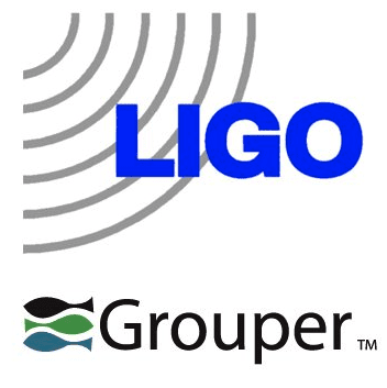 Ligo and Grouper combined logos