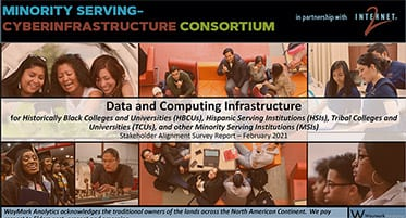 Cover slide to the MInority Serving-Cyberinfrastructure Consortium Feb. 3 presentation.